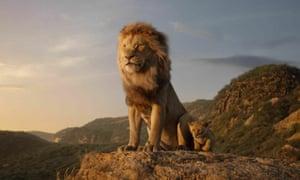 Roar power … a scene from the 2019 Disney film The Lion King.