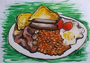 Breakfast Illustration by michelleranson.co.uk