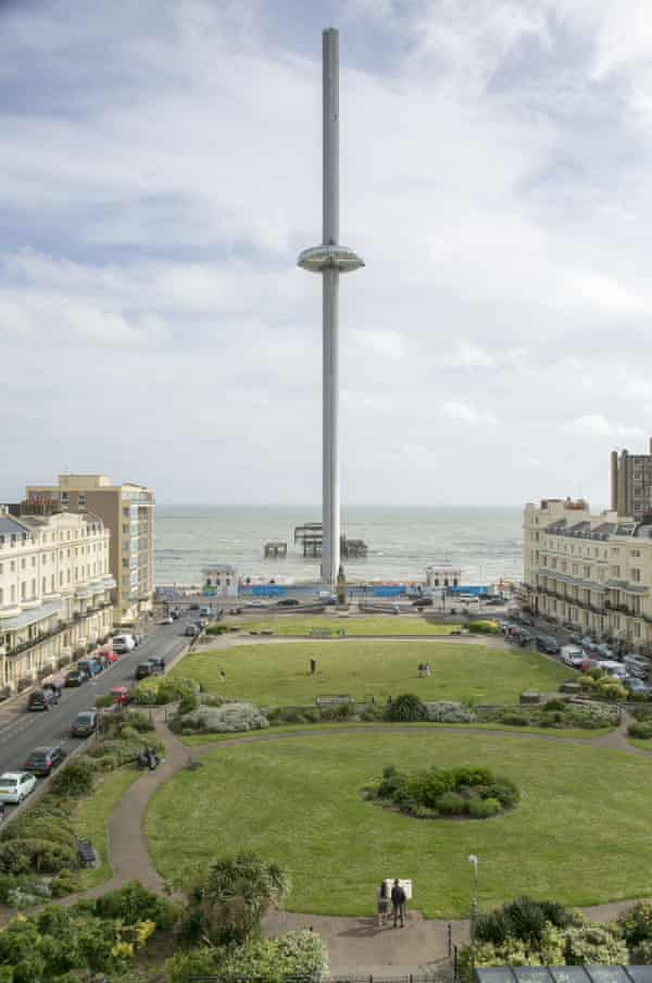 'A vertical pier': the i360 in Brighton.