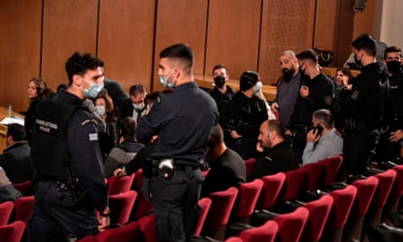 Greek police surround members of Golden Dawn following the court's ruling
