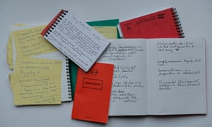 Susie Boyt note books