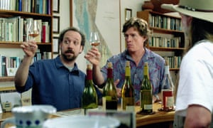 Paul Giamatti and Thomas Haden Church sample wine in the 2004 film Sideways.