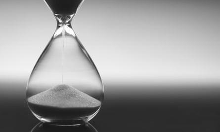 Black and white hourglass
