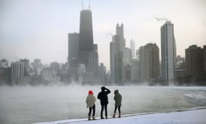 Mist rises from Lake Michigan in Chicago: 'the home of so many great writers'