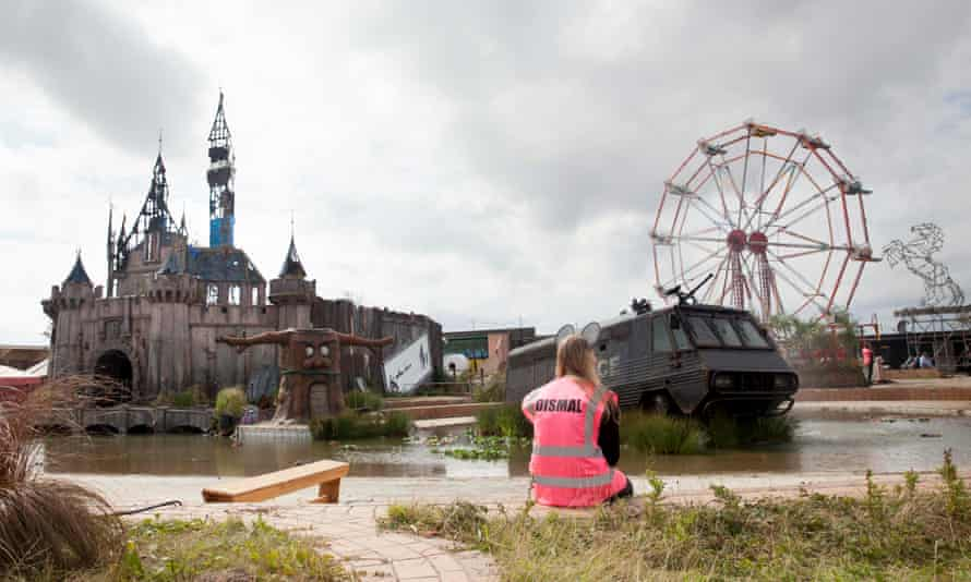 Banksy's Dismaland theme park.