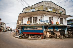 Empty streets in Freetown during a lockdown to prevent the spread of Ebola.