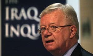 Sir John Chilcot, chairman of the Iraq inquiry.