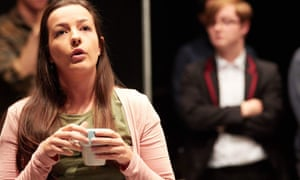 In among their audience ... Pippa Beckwith as Katie in What Once Was Ours.