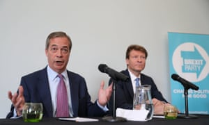 Nigel Farage (left) and Richard Tice at the Brexit party press conference.