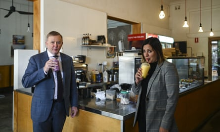 Anthony Albanese and Kristy McBain
