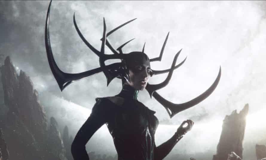 AS Byatt was more faithful … Cate Blanchett as Hel in Thor: Ragnarok (2017).