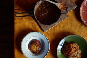 Bambara bean stew and plantain pancakes