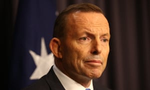 The prime minister Tony Abbott at a press conference in the blue room of Parliament House this evening responding to Malcolm Turnbull's challenge of his leadership, Monday 14th September 2015
