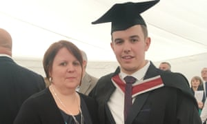 Sarah Hayes with Alex at his graduation in Swansea in 2017