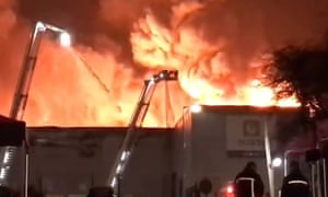 Ocado warehouse fire