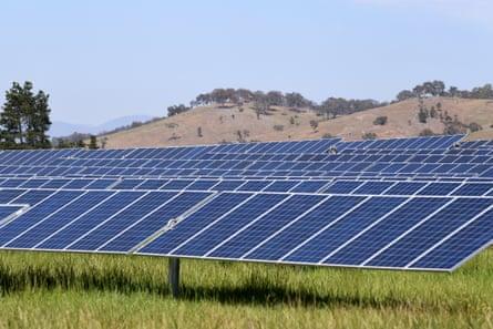 A solar farm in Canberra