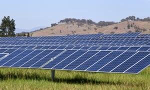 Mount Majura Solar farm in Canberra