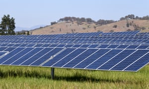 The Mount Majura solar farm in Canberra. Large retailers are looking to long-term electricity contracts with solar energy providers as a way of cutting costs.