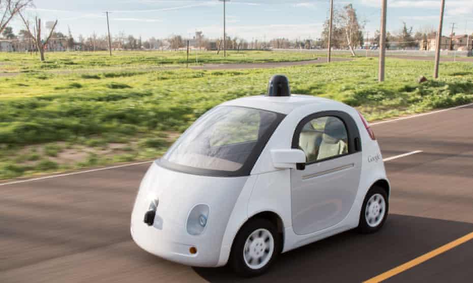 A Waymo 'Firefly' pod car.