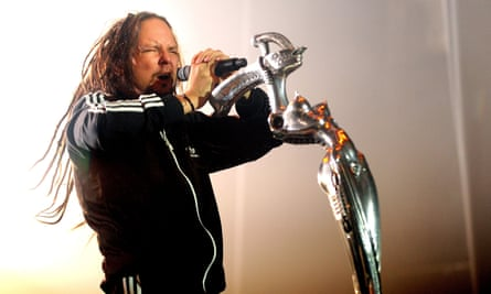 Old-Metal? Korn's Jonathan Davis at the Manchester Apollo.
