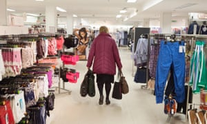 A woman shopping in Marks & Spencer