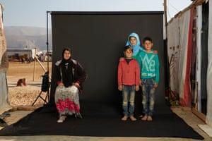 Sahar and her family.