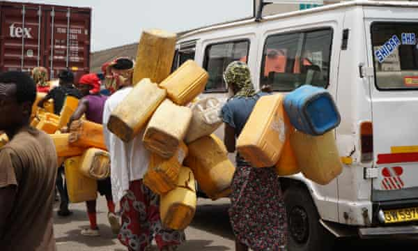 'Kufuor' gallons seen on the streets of Accra.