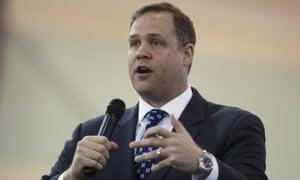 Rep. Jim Bridenstine, R-Tulsa, speaks in Tulsa, Okla. President Donald Trump's choice to head NASA faces a contentious Senate confirmation over his past comments dismissive of global warming as a man-made problem.