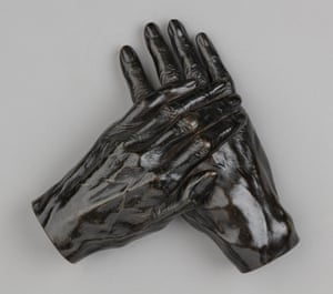 """Hands of Thomas Carlyle (1795–1881), c1874, Joseph Edgar Boehm (1834–1890), National Trust, Carlyle's House"""