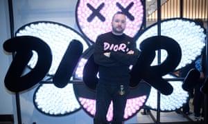 Kim Jones at the Dior pop-up store in Tokyo.