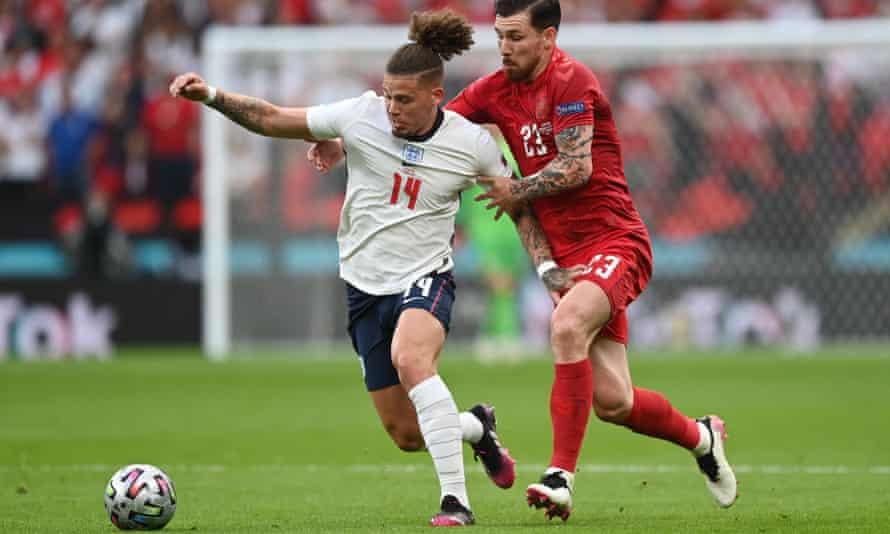 Kalvin Phillips overcame a tricky start to impress against Denmark in the semi-final.