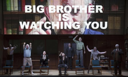 Olivia Wilde and Tom Sturridge as Julia and Winston in the Broadway run of Nineteen Eighty-Four.