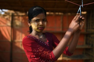 Rozia, aged 10. Thanaka is produced from the bark of a tree found in the dry central parts of Myanmar