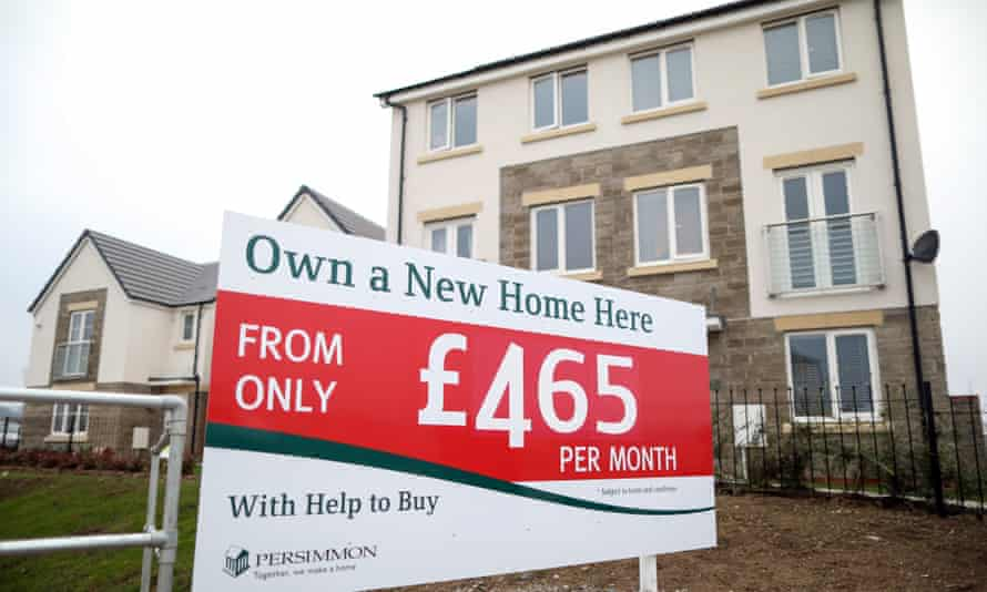 A sign advertising the government's Help to Buy scheme