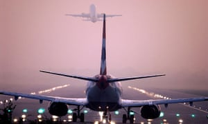 Planes take off from London Gatwick airport