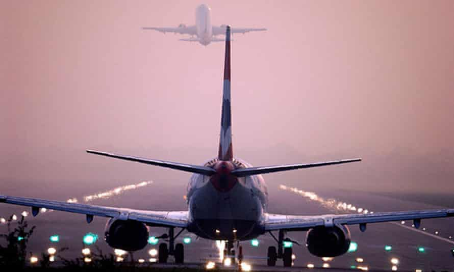 Planes takeoff from Gatwick before the pandemic.