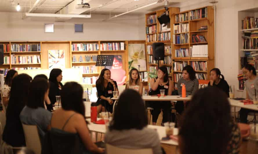 Members of the Cosmos book club, in New York.