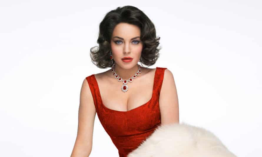Lindsay Lohan as Elizabeth Taylor in Liz & Dick