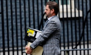 A case of Dom Perignon being delivered to No 10