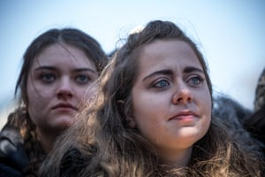 Madison Tittle, 17, from Colorado Springs, attends the rally in Washington, DC