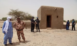 One of the 14 mausoleums that have been restored in Timbuktu, Mali after being destroyed by Islamic extremists.