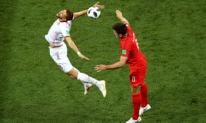 Harry  Maguire's aerial presence, shown here against Tunisia's Fakhreddine Ben Youssef (left) will be vital against Panama.