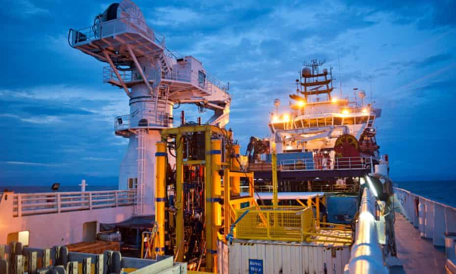 Deep sea mining off Papua New Guinea coast.