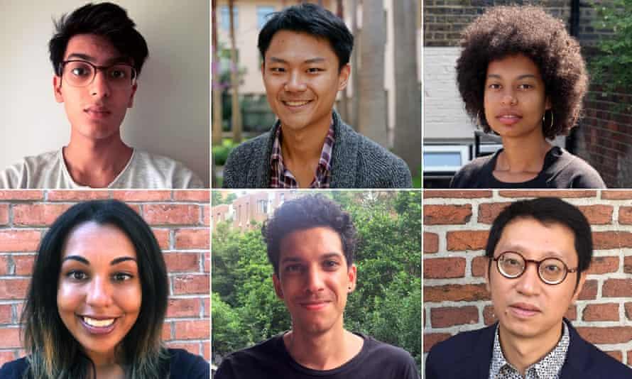 Last year's shortlisted authors … (clockwise from top left) Gurnaik Johal, Yiming Ma,Varaidzo, Kit Fan, Jason Deechland and Savannah Burney