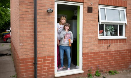 Jean Wilson with 17-year-old Emily on their doorstep
