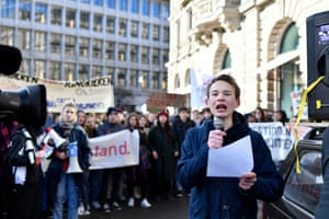 Young environmental activist Jonas Kampus, from Zurich Switzerland