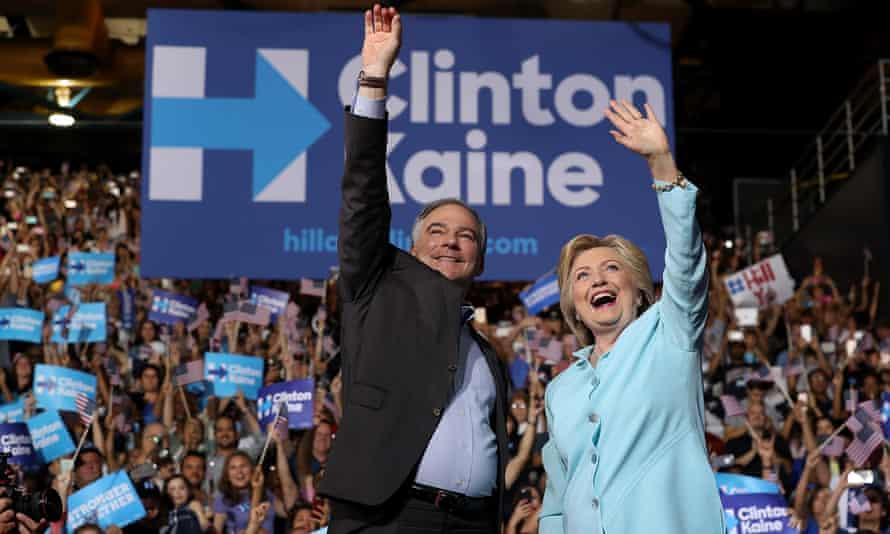 Hillary Clinton and Tim Kaine