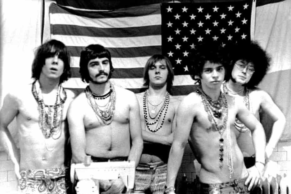 "MC5 in 1967 (L-R Fred ""Sonic"" Smith, Dennis ""Machine Gun"" Thompson, Rob Tyner, Wayne Kramer and Michael Davis)"