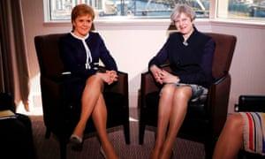 Theresa May meeting Nicola Sturgeon in Scotland today.