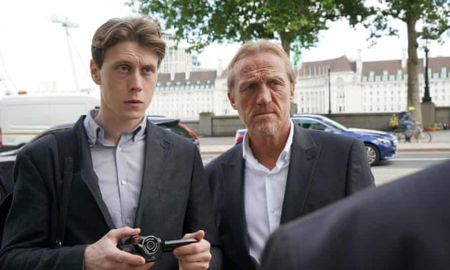 George MacKay and Jerome Flynn in The Trick.